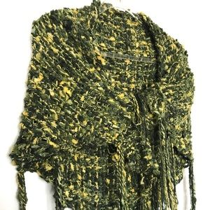 Knit Shawl Scarf with Tassles